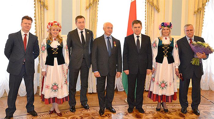 Церемония награждения Владимира Спивакова орденом Франциска Скорины